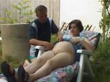 Pregnant Wife Finger and Fuck Outdoor