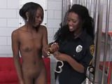 Black Lesbians in Jail Anal Strapon