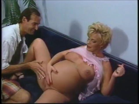 Pregnant Woman Fucked on the Couch