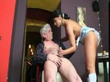Young Girl Barmaid Sucking and Fucking With Older Man