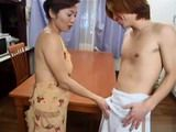 Japanese Mom Fucked and Facial With Young Boy
