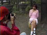 Japanese Teen Outdoor Photo Session and Orgasm Strapon