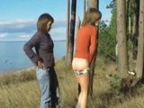Teen Girlfriend Spanking in the Woods