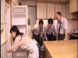 Japanese Orgy With Lewd Housewife