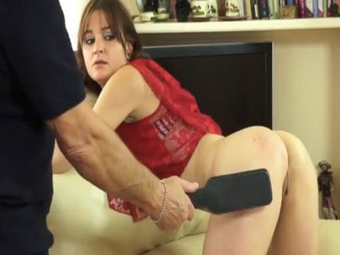 Young College Girl Takes a Hard Spanking