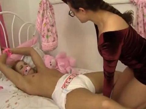Teen Maimed and Put a Diaper On by Girlfriend
