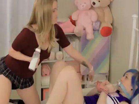 Chubby Teen Diapers and Dildo Fucks