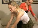 Spanking and Enema Punishment Two Girls for Smoking
