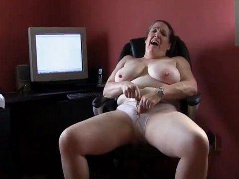 Chubby Granny Big Tits Undressed and Masturbating