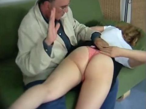 Spanking Young Shamed and Submissive Girl Tampon String