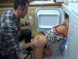 Hot Milf Got Stuck In The Washing Mashine And Become Easy Prey
