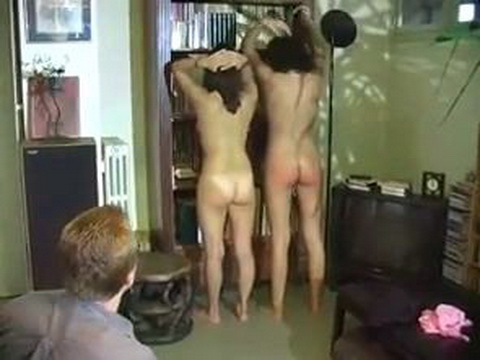 Dad Punishes Girl and Her Friend With Strong Spanking