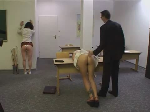Lesbians Schoolgirls Punished With Spanking in the Classroom