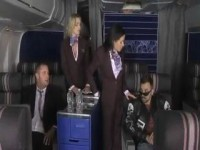 Two Stewardess Fucked In Private Plane By Mafia Boss And His Lawyer CFNM