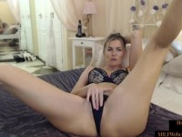Hot Blonde Mom With Perfect Tits Masturbating On Homemade Webcam