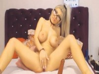 Gorgeous Blonde Babe Pleased Herself While Filming