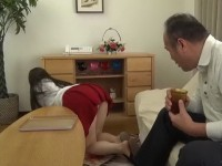 Old Pervert Daddy Should Not Look Under His Stepdaughter Skirt