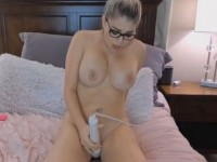Big Tits Blonde Babe Toys Her Sweet Pussy