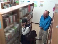 Old Pervert Stalking Young Female Student