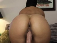 Big Ass Ebony Babe Dildoing Her Sweet Cunt