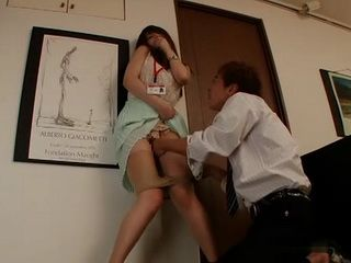 Blackmailed Hottie Akiho Yoshizawa Gets Violated at Work By Her Evil Colleague