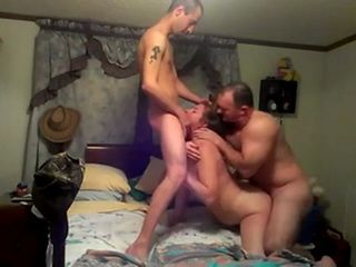 2 Amateur Guys Spitroasting Neighbors Mature Wife Hard