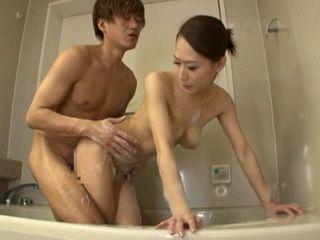 Filling With Cum Pussy Of Stepmom Yayoi Yanagida In Bathroom