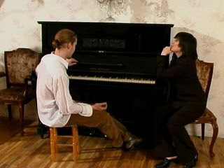 Mature Piano Teacher Seduces and Fucks Boy Student