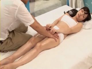 Skinny Girl Gets Oiled and Hard Fucked at The Massage
