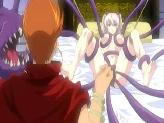 Anime gets double penetration by tentacles