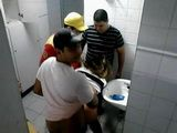 Latin Schoolgirl Slut Fucked By A Bunch Of Classmates In A Toilet