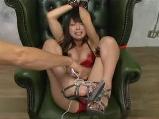Japanese Hottie Tsuchiya Rin Pussy Tortured While Tied Up To A Chair