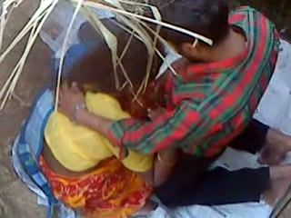 Indian Wife Sucking Cock To Her Neighbor In A Hide Out While Husband Is Looking For Her All Over The Park