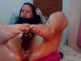Hot Mature Big Dildo In Hairy Pussy