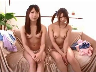 Two Japanese Teens At Their Very Start Of A Pornstar Career