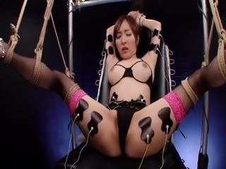 Japanese Girl Mayu Gets Tied Up And Played By Two Guys And Their Sex Toys