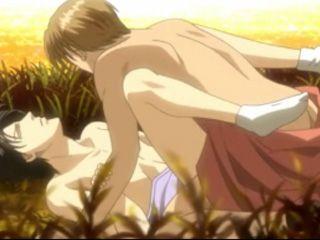 Handsome Hentai Gay Outdoor Sex Fun