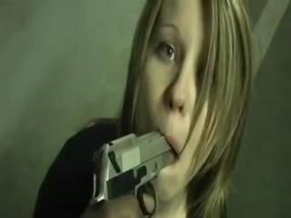 Young Woman Gun Threatened Gets Fucked