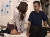 Japanese Teen Wouldnt Take No For An Answer Because She Was Eager To Try Mature Cock