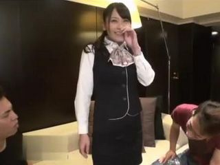 Tokio Car Show Hostes Yuri Aoki Fucked In A Hotel Room By Two Guys