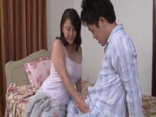 Japanese MILF Promised She Will Take A Really God Care About Exchange Student Living In Her Home