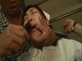Poor Japanese Nurse Gets Brutalized By Crazy Patient