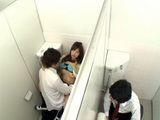 Guy Spying On Japanese Schooolgirl Fucking Her Classmate In AToilet So He Could Fuck Her Too