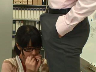 Japanese Secretary Felt Awkward When She Saw A Boner In Colleagues Pants While Changing The Light Bulb In Office