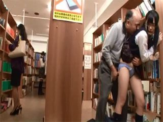 Horny Old Guy Attacks Japanese Schoolgirl In A Library