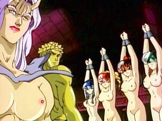 Chained Hentai Girls  Monsters Fucking
