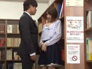 japanese schoolgirl gets fucked in a school library her