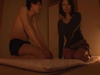 Japanese MILF Fucking Neighbor Boy While His Parents Were Out
