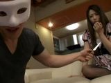 Knife Threatened Sakurai Ayumi Was Forced To Fuck Masked Man In Front Of Tied Up Boyfriend