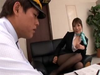 Japanese Milf Knows How To Avoid Getting a Ticked From Polisman